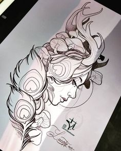 Wild Girl - dropping a new concept here, if you want to have it done send me a message, it fits very well on forearm or thigh. Bild Tattoos, Leg Tattoos, Arm Tattoo, Body Art Tattoos, Sleeve Tattoos, Tattoo Flash, Tattoo Ink, Tattoo Design Drawings, Art Drawings Sketches