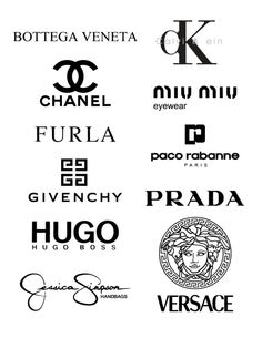 Free Logos Bottega Veneta, Calvin Klein, Chanel, Miu Miu, Furla, Paco Rabanne, Givenchy, Prada, Hugo Boss, Jessica Simpson  In the zip-archive set includes vector file: * .svg