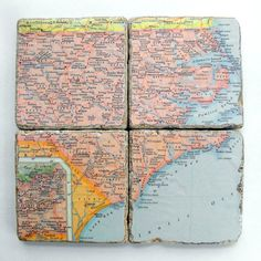 use maps of places we've been to create coasters