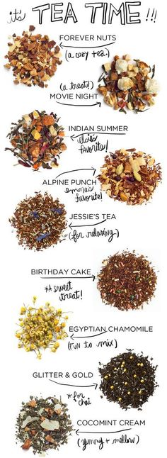 Tea Time top picks from A Beautiful Mess. What's your favourite tea for tea time?