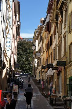 One of the street in my home town Neuchatel, Switzerland