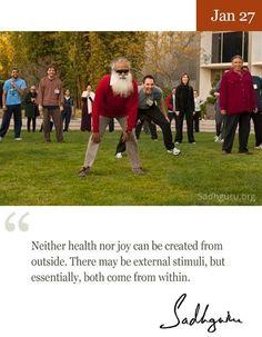 27th Jan quote from Sadhguru