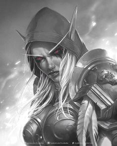 World Of Warcraft Game, World Of Warcraft Characters, Warcraft Art, Fantasy Characters, Fantasy Women, Fantasy Girl, Dark Fantasy, Final Fantasy, Banshee Queen