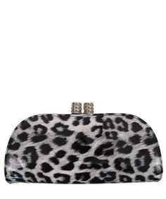 This clutch will add a touch of glamour to your wardrobe. Perfect for a special occasion or a night out. This clutch includes a detachable cross body strap. 11.5 (W) x 2 (D) x 5.5 (H) inches