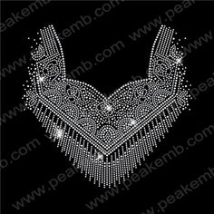 Crystal Necklace Rhinestone Hot Fix Motif Wholesale 30pcs/lot