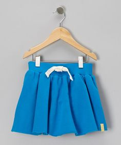 Take a look at this Blue Organic Sweat Skirt - Infant, Toddler & Girls by Boys&Girls on #zulily today!