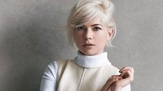 Michelle Williams Looks Impossibly Chic in New Louis Vuitton Ads   StyleCaster Cute photo op. Michelle Williams looks good with the beach blond hair!
