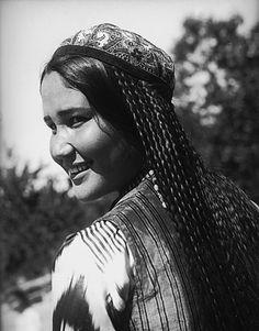 Uzbekistan. 1930. Uzbek girl, Central Asia.  Max Penson photo
