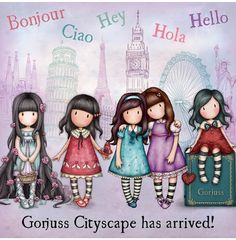Little Girl Pictures, Holly Hobbie, Living Dolls, Cute Images, Copics, Cute Illustration, Fabric Painting, Rock Art, Cute Art