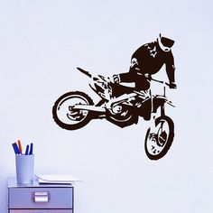 For Micah - Vinyl Wall Decals Motocross Motorcycle Moto Dirty by WisdomDecals