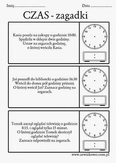 ... a dokładniej to lapbook o czasie, jego mierzeniu i odczytywaniu na zegarach wskazówkowych i cyfrowych, powstał w ostatnich dniach w nasz... Primary Teaching, Educational Crafts, Math For Kids, Early Education, Asd, Travel With Kids, Montessori, Back To School, Language