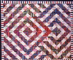 Wow, a double Barn Raising log cabin, very unique! The Quilts of Ann Brauer