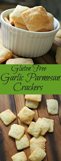 Gluten Free Garlic Parmesan Crackers.