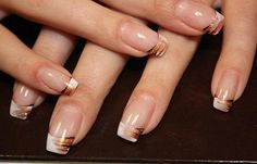 Below are some images of Gel Nail Designs that can motivate you, how to take care of nails while using gel. Simple Gel Nails, Cute Gel Nails, White Tip Nails, Gel Nails French, My Nails, White Nail, Pretty Nails, Fancy Nails, White Gold