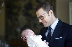 Princess Estelle of Sweden with her father Prince Daniel of Sweden.