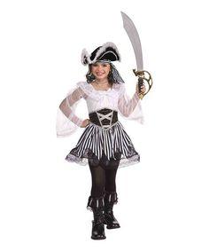 Look what I found on #zulily! Black & White Pirate Dress-Up Set - Kids #zulilyfinds
