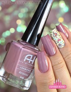 Esmalte Arrasou Ana Hickmann Shellac Nails, Manicure And Pedicure, My Nails, Acrylic Nails, Hair And Nails, Nail Polish, Cute Pink Nails, Pretty Nails, Luxury Nails