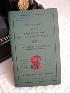 Singer Featherweight 221 Instruction Manual and other parts from April1930s.com