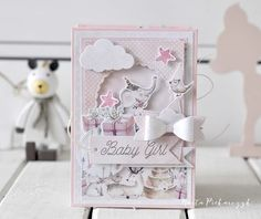 Hobbies after hours. Exploding Box Card, Baby Barn, Card Making Templates, Mixed Media Cards, Baby Journal, Baby Album, Forest Friends, 3rd Baby, Heartfelt Creations