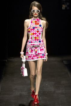 Moschino - Spring / Summer 2013 - Love the randomness of the floral appliqué.