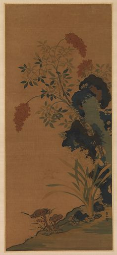 Unidentified Artist. Winter Flowers, after Cui Bo. Ming dynasty (1368–1644). China. The Metropolitan Museum of Art, New York. John Stewart Kennedy Fund, 1913 (13.220.102) | The Chinese tapestry-weaving technique (kesi) was sometimes used to produce textile panels that closely resembled paintings. #tapestrytuesday