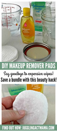 Juggling Act Mama shows you how to to make DIY MakeUp Remover Pads that leave your skin feeling clean and fresh for a fraction of the cost. # makeup remover pads DIY Makeup Remover Pads - Juggling Act Mama Coconut Oil Makeup Remover, Diy Makeup Remover Pads, Diy Makeup Bag, Eye Makeup Remover, Skin Makeup, Diy Beauty Makeup, Makeup Ideas, Diy Makeup Remover Baby Shampoo, Makeup Hacks