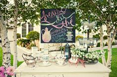 so having a tea and coffee bar at my wedding :)