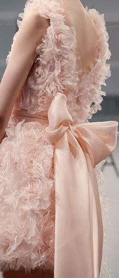 Ana Rosa An utterly jaw dropping pale pink suede colored dress in yards of fabric, satin, and tulle. #smile15min.