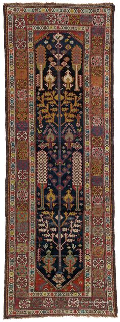 LURI TREE OF LIFE RUNNER, Western Persian 3ft 7in x 9ft 6in Circa 1900 http://www.claremontrug.com/antique-rugs-information/collecting/
