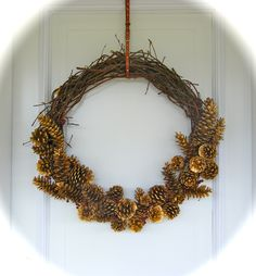 Twig and Pinecone Wreath