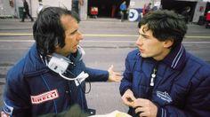 Emerson Fittipaldi conversando com Ayrton Senna, simplesmente amei essa foto; dois seres humanos incríveis, que eu adoro muito!