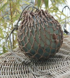 Glass Balls in Nets | Teresa's Japanese Glass Fishing Float Collection