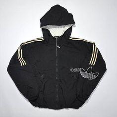 2721f25a3c745a Vintage ADIDAS Hip Hop Bomber Coat Jacket   Retro ADIDAS   Old School Adidas    90s