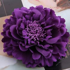 1.25$  Buy here - http://ali04j.shopchina.info/go.php?t=32807394067 - 2017 New Arrival Dark Purple High Quality Flower Hair Clip Women Hair Accessories Hairpins Woman Bridal Wedding Hair Decoration  #aliexpress