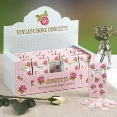OUT OF STOCK - DUE END OF JULY 2018 Vintage Rose - Tissue Paper Confetti 20 packs per retail box, all confetti is biodegradeable. Each pack has mixed White and Pink heart shaped confetti. Biodegradable Confetti, Biodegradable Products, Wedding Tissues, Paper Confetti, Vintage Wedding Theme, Wedding Confetti, Vintage Roses, Main Colors, Tissue Paper
