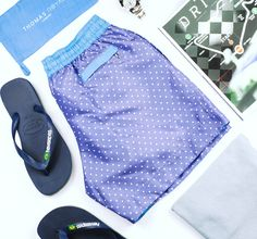 POLKA DOT SHORT STYLE GUIDE | Featuring Drive H.R. Owen Magazine, Havaianas, John Smedley, Mulberry, Raybans & Rolex | Shop the collection at thomasroyall.com Rolex Shop, Polka Dot Shorts, Tropical Colors, Ss 15, Swim Shorts, Workout Shorts, Style Guides, Magazine, Shopping