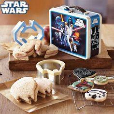 One of Noah's Valentine's gifts - Star Wars Sandwich Cutters!