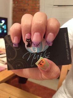 Nails art, acrylic nails, halloween nails