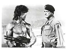Rambo: First Blood Part II - Publicity still of Sylvester Stallone & Richard Crenna