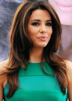 Eva Longoria Hairstyles: Fluffy Long Wavy Haircut