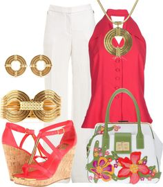 """""""Floral Bag"""" by glamatarian on Polyvore"""