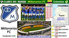 """El Millonarios FC de Bogotá, es uno de los grandes del Fútbol Colombiano. En el jugo Alfredo di Stefano, antes de ir al Real Madrid. Por eso también llaman al Millonarios """"El Ballet Azul"""", por extraordinario equipo que tenian a principios de la decada de los 50. Llevan ganadas 15 Ligas de Colombia y 1 Copa Merconorte en 2011. #MillonariosFC #Bogota #Colombia #Futbol #Fussball #Football #Soccer #ClubesDelMundo"""