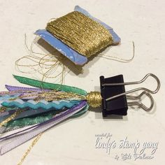 Make Your Own Custom D.I.Y Ribbon Planner Tassel (Sparkle Tart by Kate Palmer)