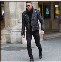 Mens Genuine Lambskin Leather Jacket Slim fit Motorcycle Jacket P103