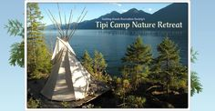 Guiding Hands Recreation Society's Tipi Camp Nature Retreat. Good ideas for teepee campground.