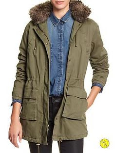 Banana Republic Hooded Utility Jacket- Proof that you can be stylish and utilitarian at work!