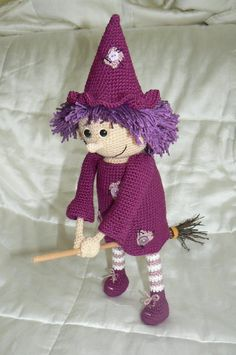 This time we are offering beautiful Good Witch crochet pattern. The finished witch is about 37 cm tall. You can use the finished witch as a Halloween decoration, hung her somewhere in the space or on the wall... or she can just stand or sit somewhere on the table. She would also make nice present to somebody you like (you see... these good witches bring luck to the home where they live :-).As usually the pattern includes written instructions (not just abbreviations) and also pictures. Even…