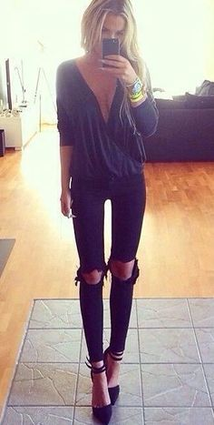 casual ripped jeans