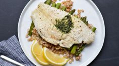 Simply Six: White Fish en Papillote with Asparagus and Farro