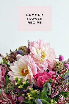 romantic summer floral recipe via Mint Love Social Club